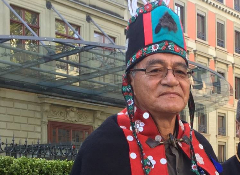 Chief Na'Moks Reports to the UN